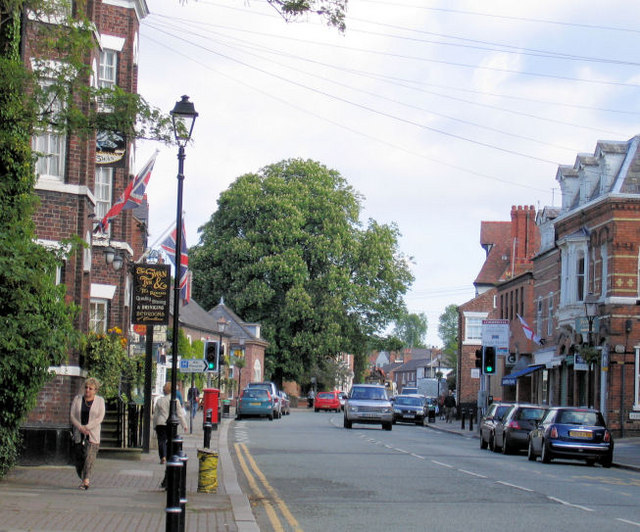 View up Tarporley High Street