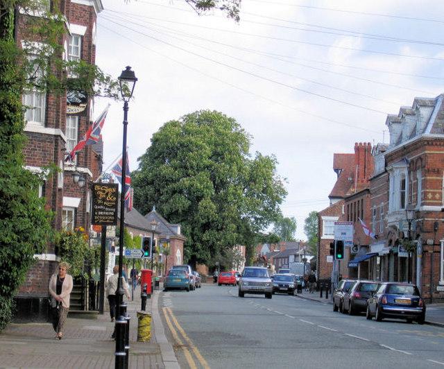 View up Tarporley High Street